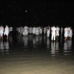 Yemanya-Fest am Strand in Brasilien